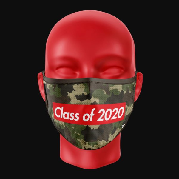 coronavirus graduation mask camo supreme design