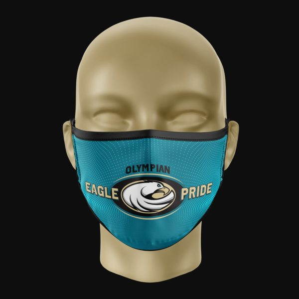 Olympian Eagle Pride Mask Teal